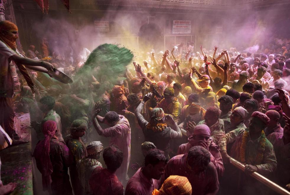 India Holi Festival (photo by Kevin Frayes, AP)