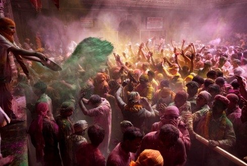 India Holi Festival (photo by Kevin Frayes, AP)